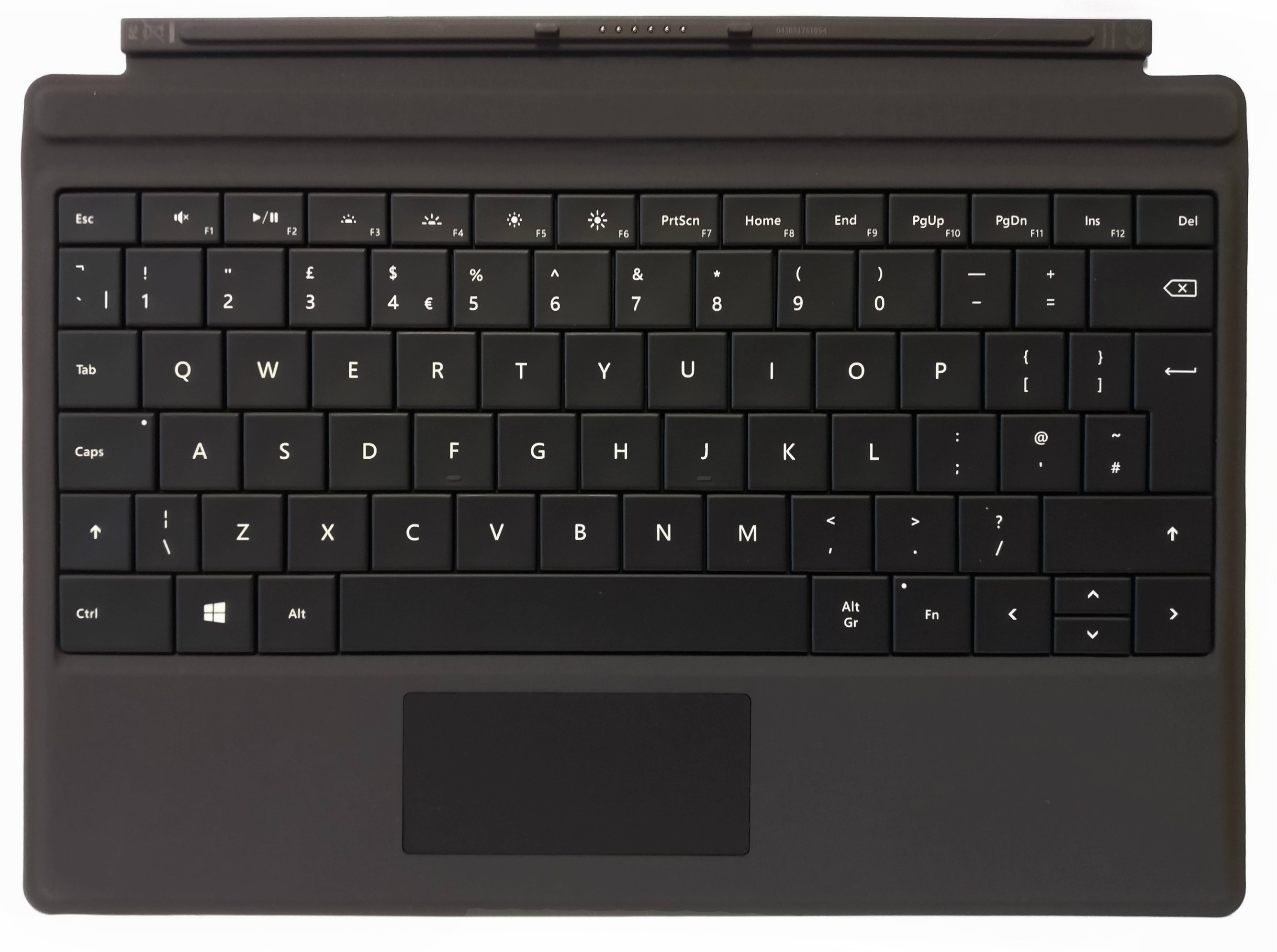 Microsoft Black Type Cover UK QWERTY Keyboard for Surface 3