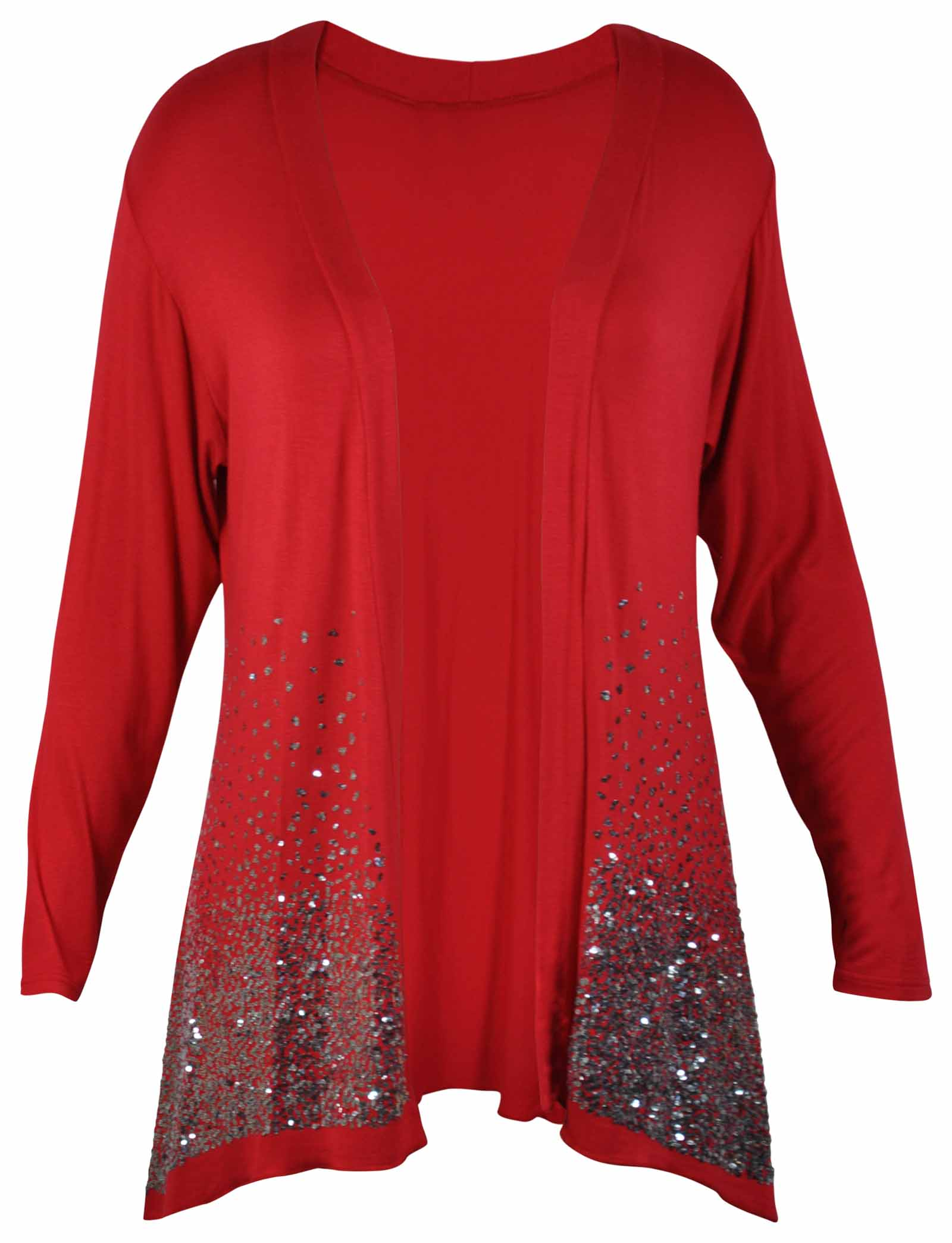 NEW LADIES SEQUIN GLITTER CARDIGAN WOMENS LONG SLEEVED OPEN WRAP ...