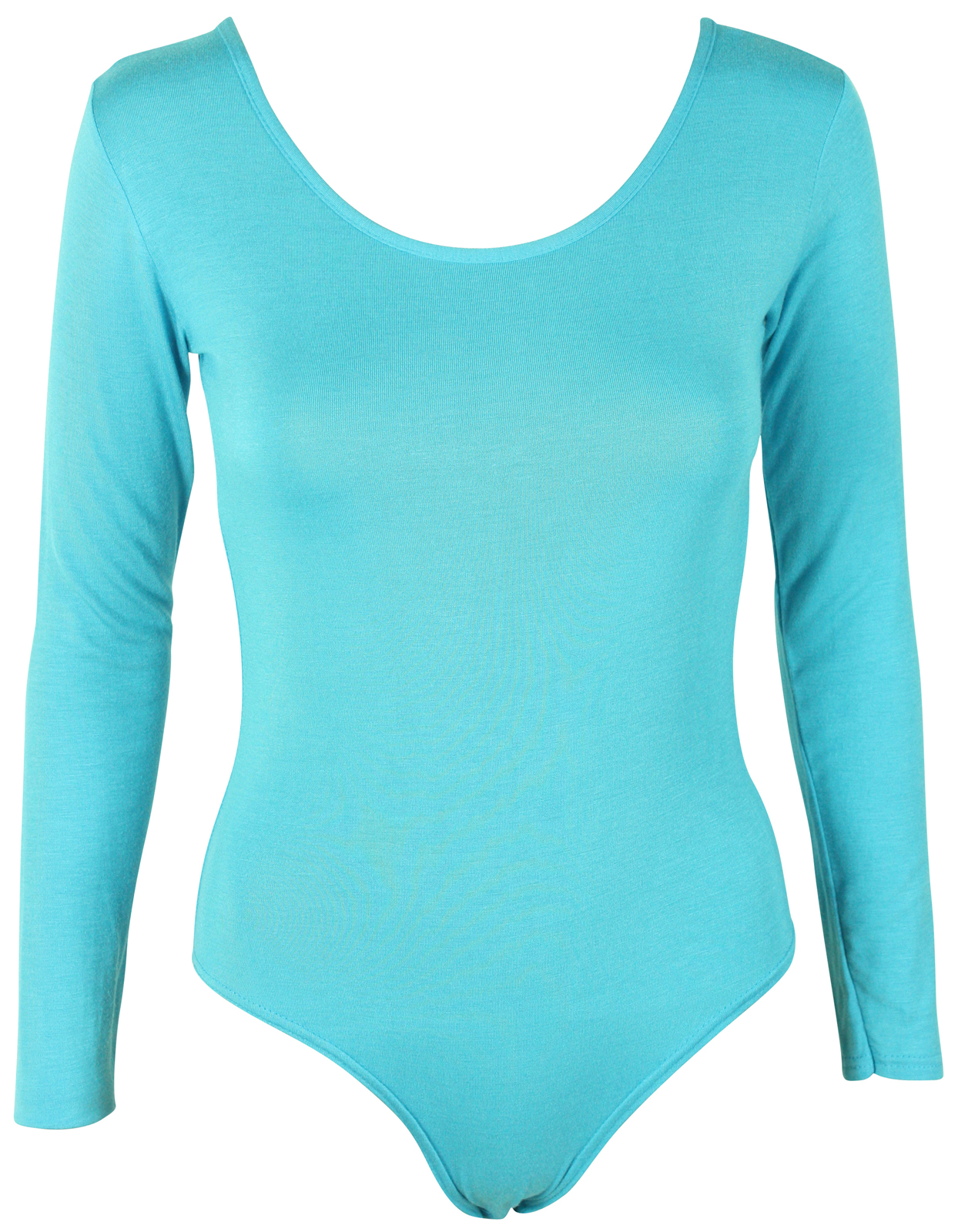 a68481ff9b23 LADIES LONG SLEEVE STRETCH LEOTARD BODYSUIT WOMENS TOP