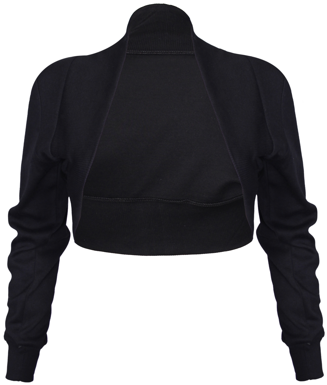 NEW-LADIES-LONG-SLEEVE-STRETCH-BOLERO-SHRUG-WOMENS-TOP thumbnail 2