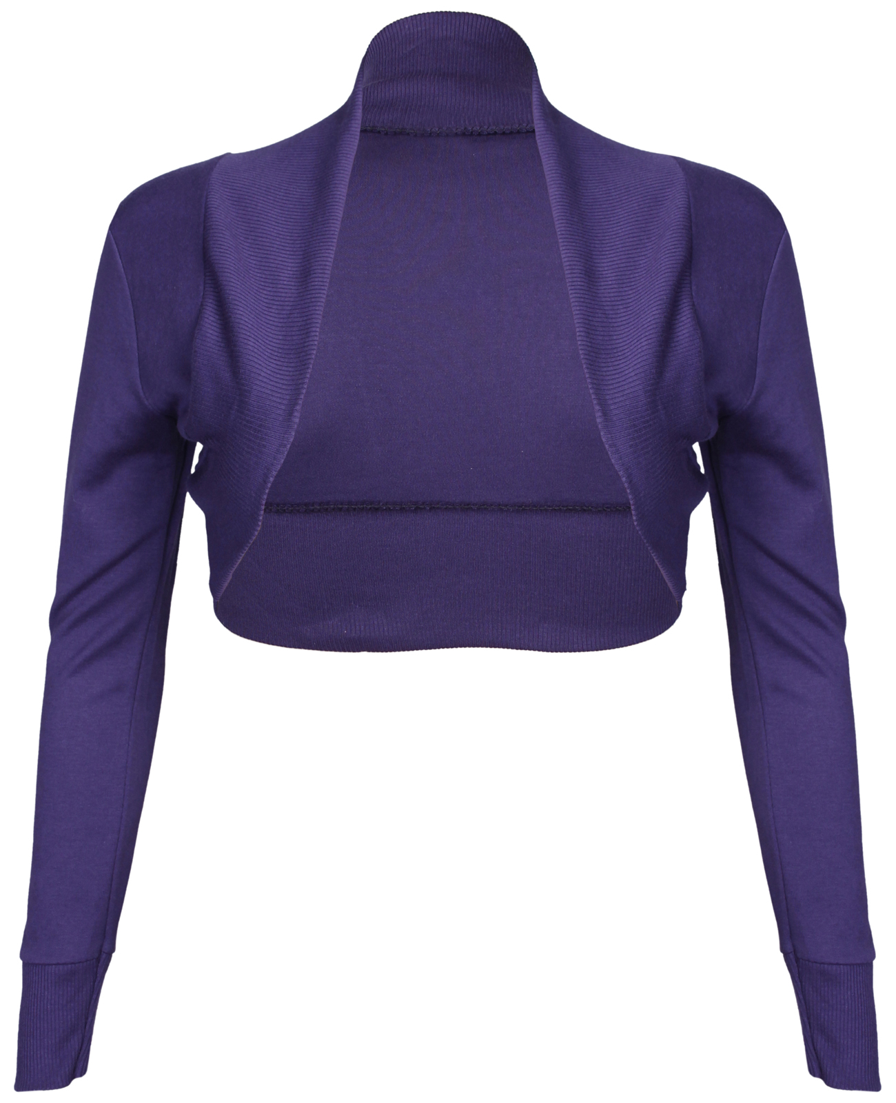 NEW-LADIES-LONG-SLEEVE-STRETCH-BOLERO-SHRUG-WOMENS-TOP thumbnail 18