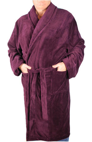 Item Details - Mens Kingsize Big Size Soft Warm Fleece Dressing Gown Robe  Burgundy Size 2XL-8XL ccea78cfe