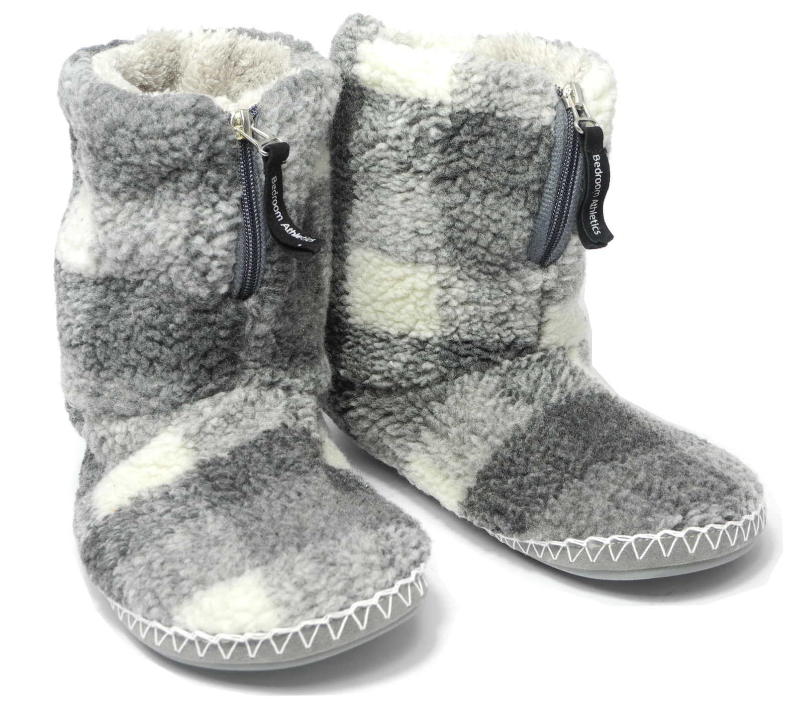 mens bedroom slippers mens bedroom athletics sherpa fleece warm fur zipped boots 12382