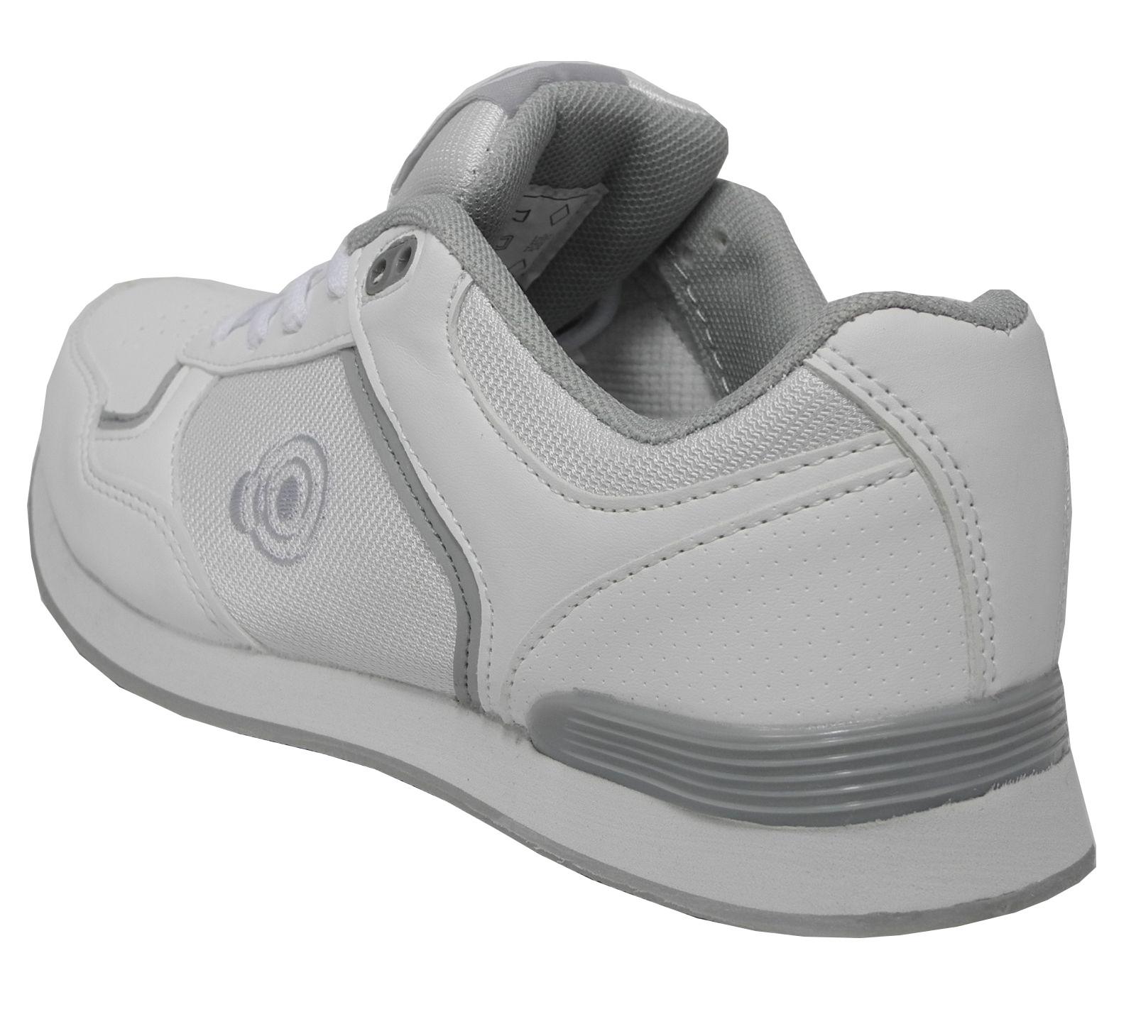 Herren Flache Sohle Leicht Geschnürt Kugeln Schuhe Bowling Turnschuhe Weiß