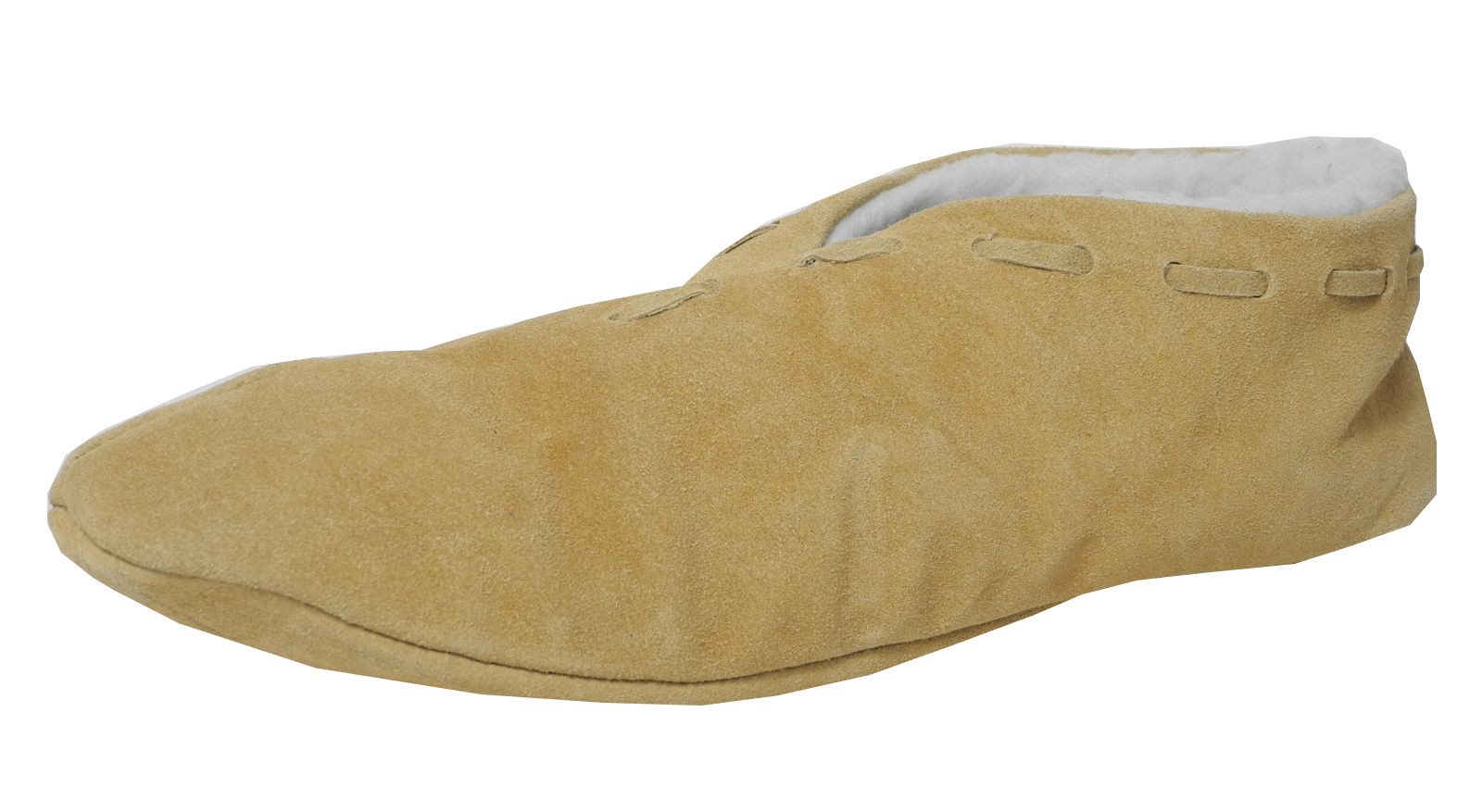 Para-Hombre-Real-De-Gamuza-De-Cuero-de-imitacion-borreguillo-Forrado-De-Zapatos-Zapatillas-tamano-7