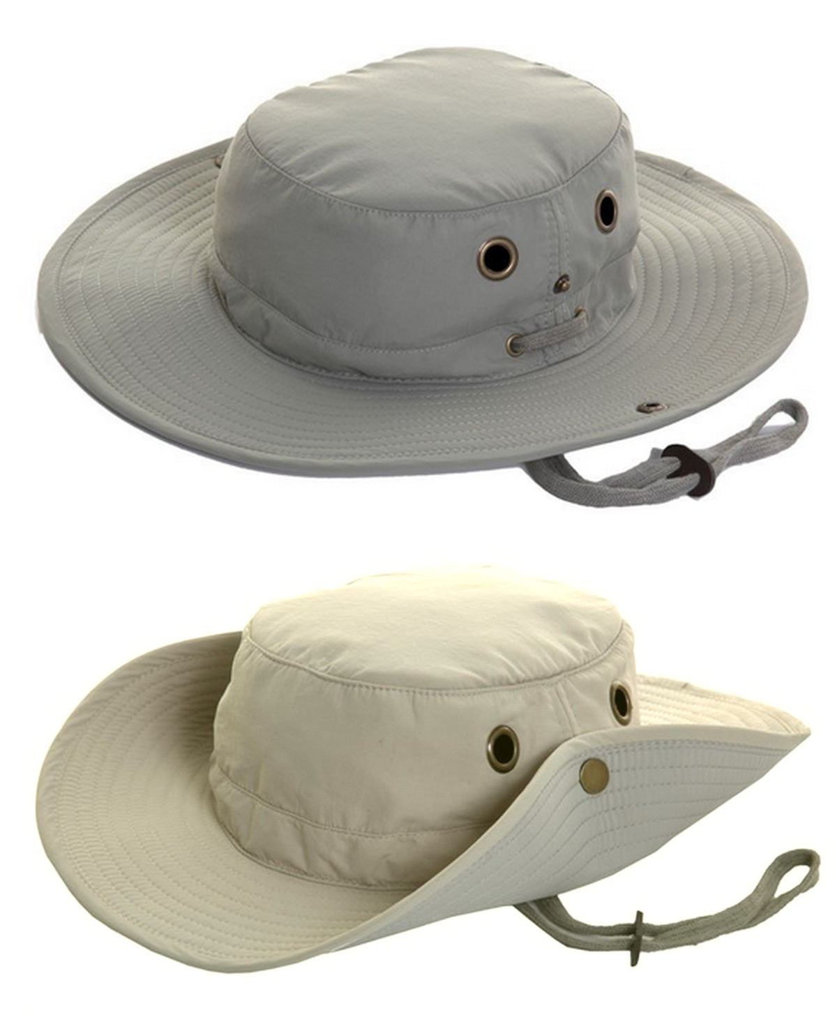 e4e27beb Mens Lightweight Wide Brim Aussie Sun Hat Hidden Pocket Green Beige S M L  XL XXL