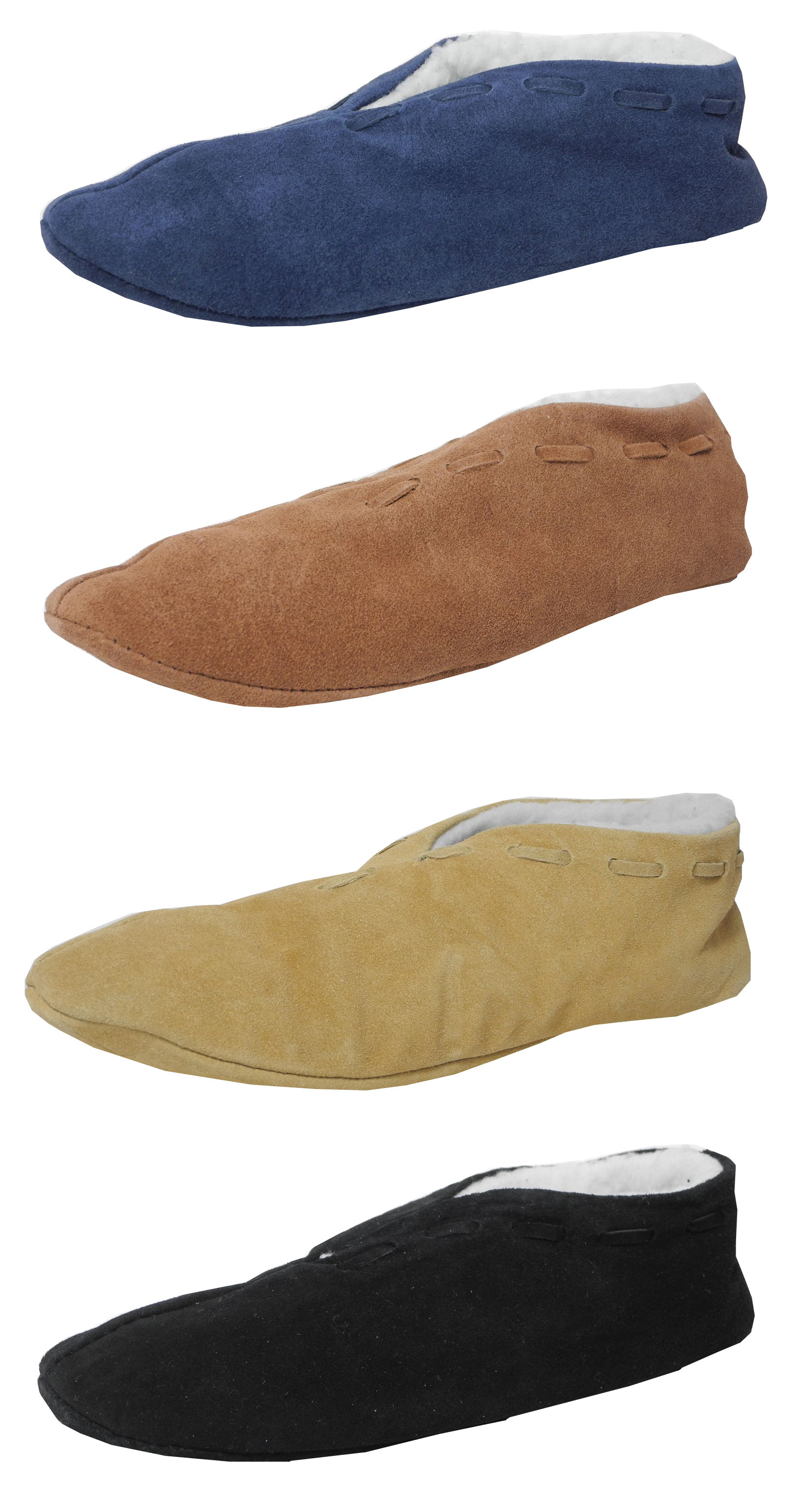 Boys Ladies Suede Leather Faux