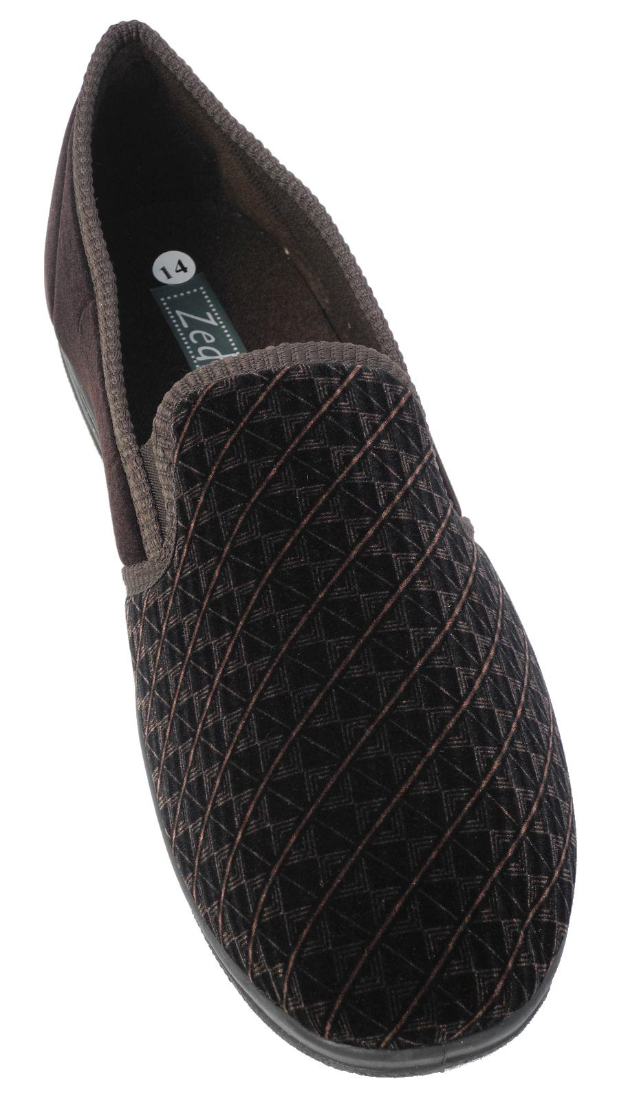 Hombre Zedzzz LUJO Cálido Cómodo terciopelo Zapatos Zapatillas tamaños grandes
