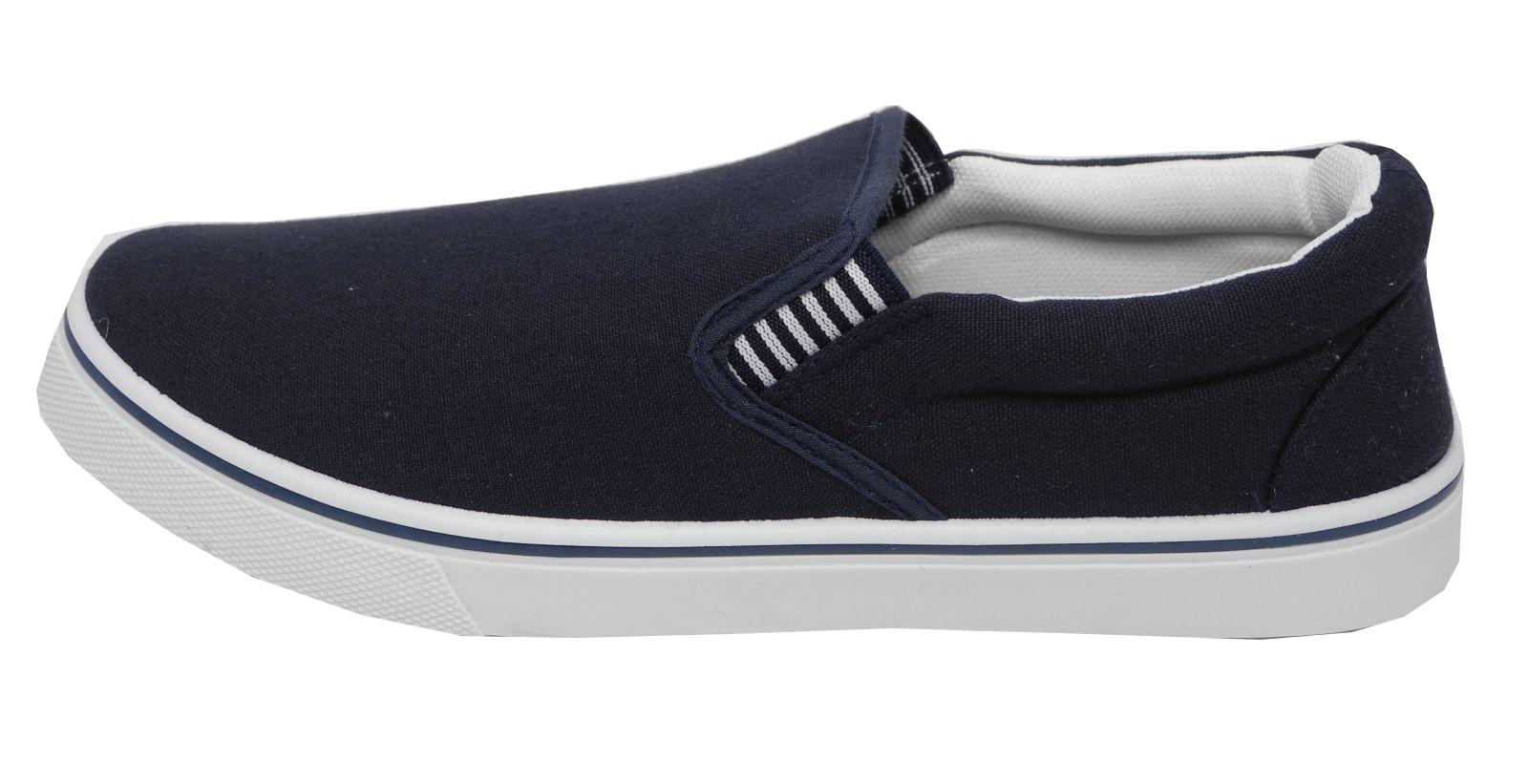 Mens Canvas Slip On Shoe Size