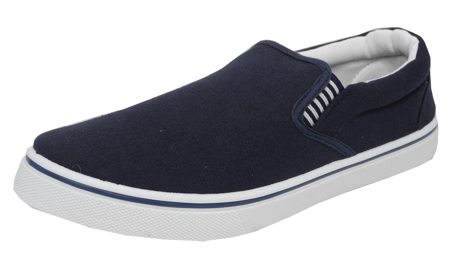Mens Blue Canvas Deck Shoes