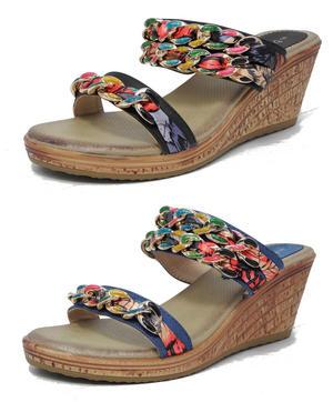 ac1c61d020eaf Item Details - Womens Ladies Leather Look Cushion Comfort Mule Sandals Size  3 4 5 6 7 8