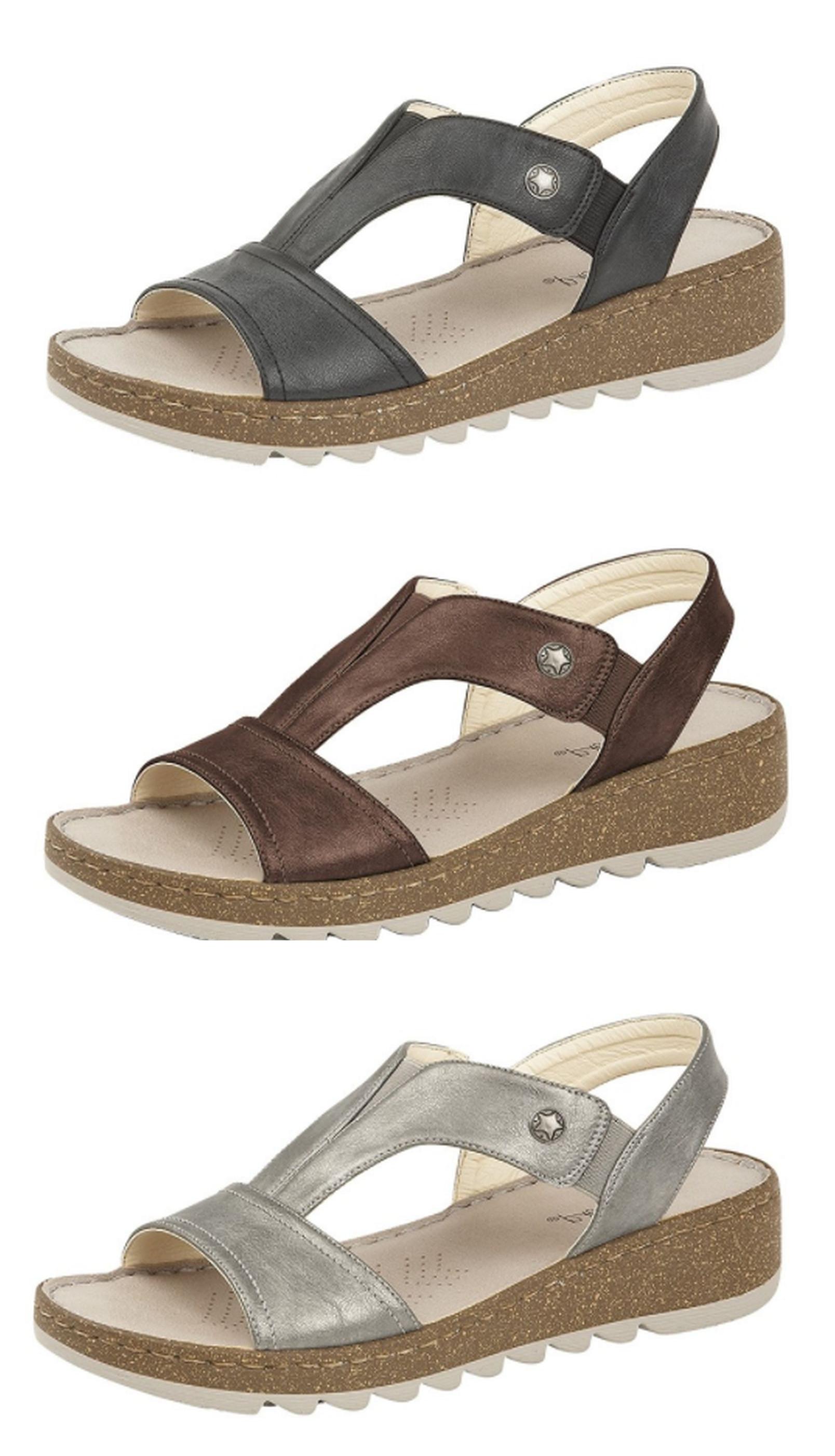 sandals gh lyst metallic comforter louisa view h co fullscreen shoes in sandal comfort bass g wedge