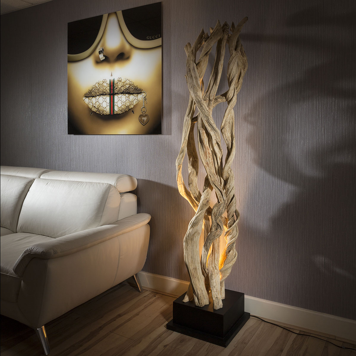 beautiful driftwood modern tall lamp designer floor maori high