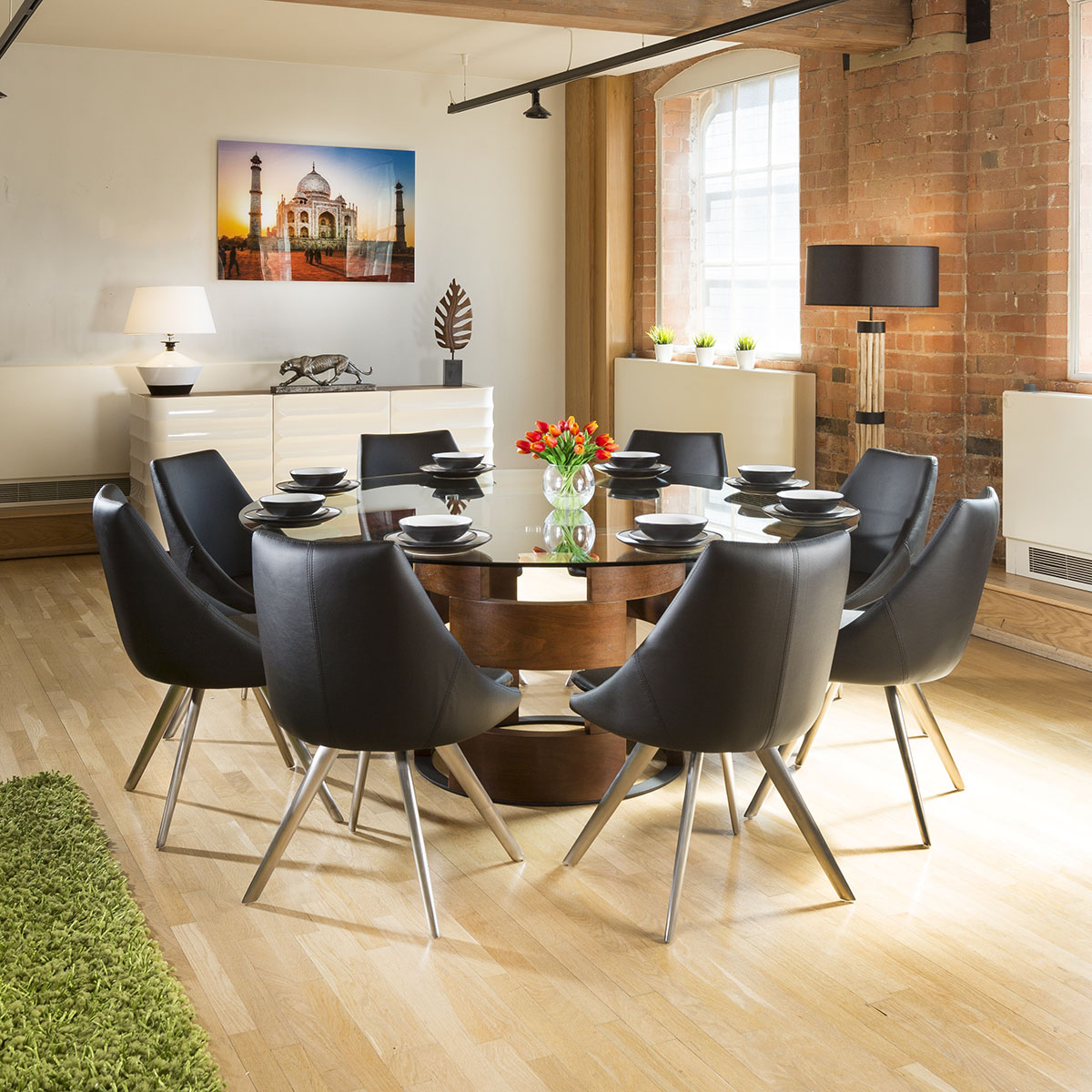 Modern Large Round Dining Table