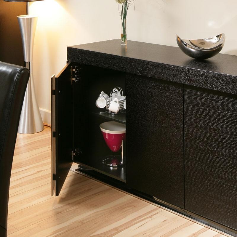 Large Modern Oak Sideboard Cabinet Buffet in Black Oak 2 0mtr 912M 799430951227 eBay