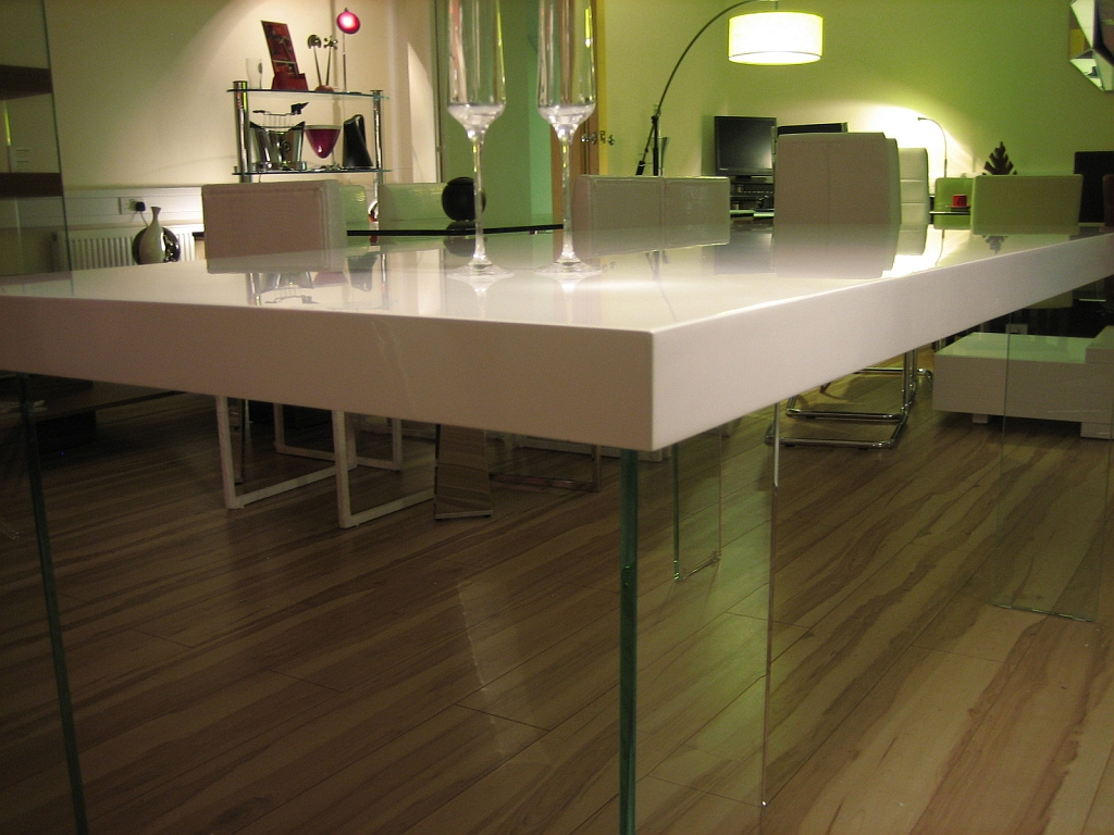 rectangle high top table ag design large rectangular high gloss white dining table 4538