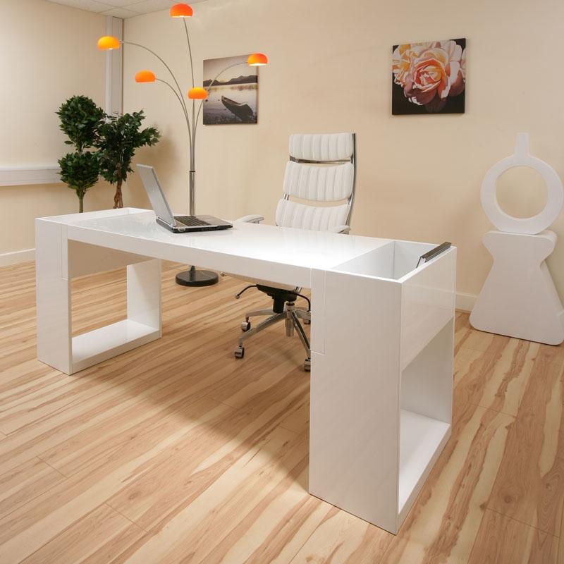 Sentinel AG Design Large Rectangular High Gloss White Dining Table Glass  Leg 07