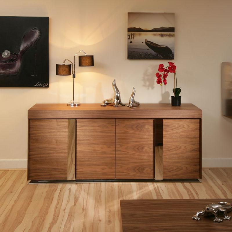 modern large walnut sideboard cabinet cupbaord buffet 912 ebay. Black Bedroom Furniture Sets. Home Design Ideas