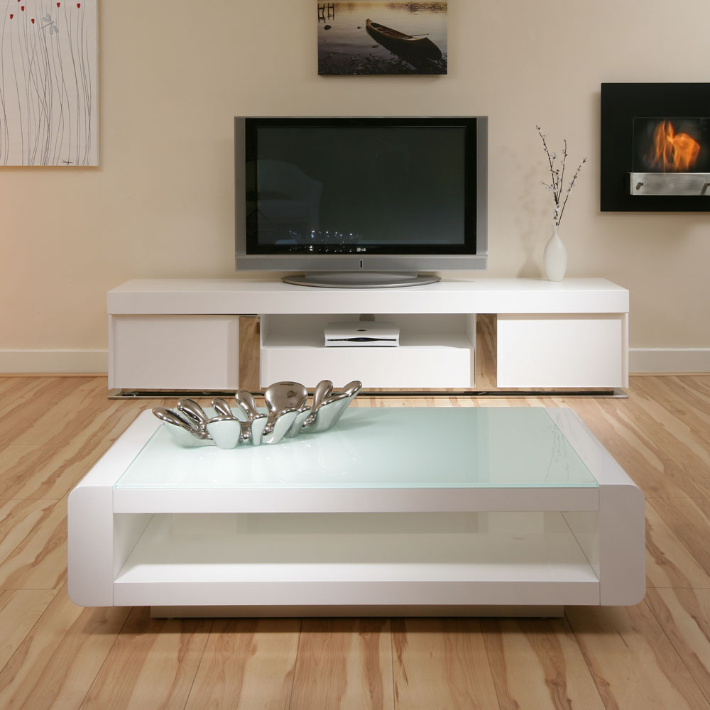 New Modern High Gloss White Rectangle Coffee Table Living: Designer End Or Side Table White Gloss Square Modern