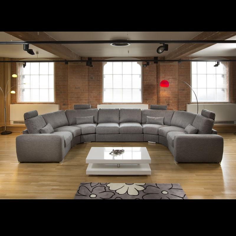 Wonderful Sentinel Huge/Large Modern L Shape Quality Sofa / Settee Corner Group Grey  21