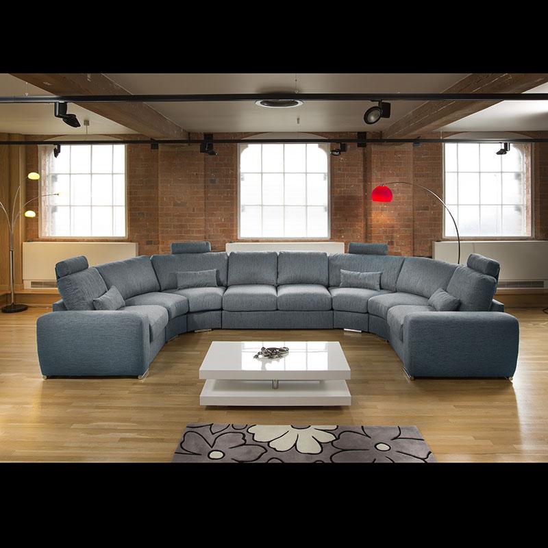 Sentinel Massive Modern High Quality U Shape Sofa / Corner Group Black/Grey  25