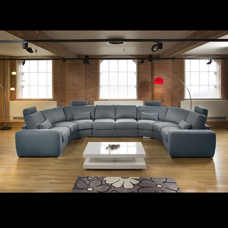 Massive Modern High Quality U Shape Sofa Corner Group Black