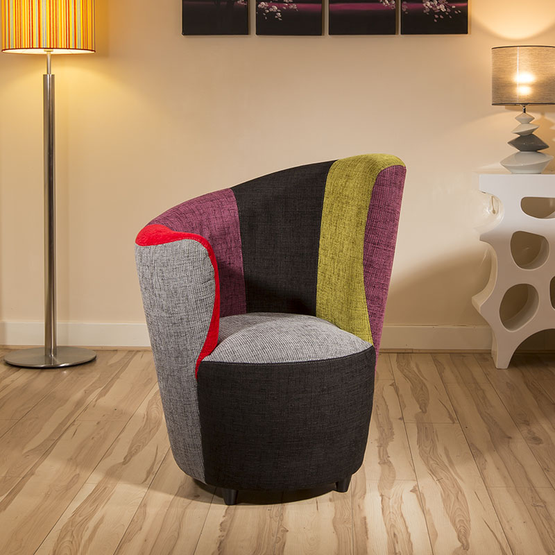 Attractive Sentinel Modern Curved Multi Colour Fabric Armchair/Armchairs/Tub Chair/  Chairs