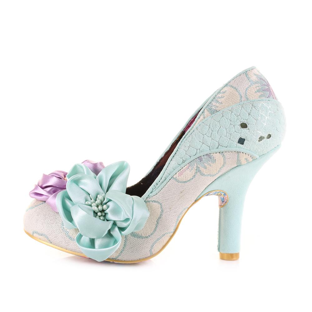 Melba Womens Green Choice Floral Shoes Irregular Peach Heels Mint bgv7yYf6