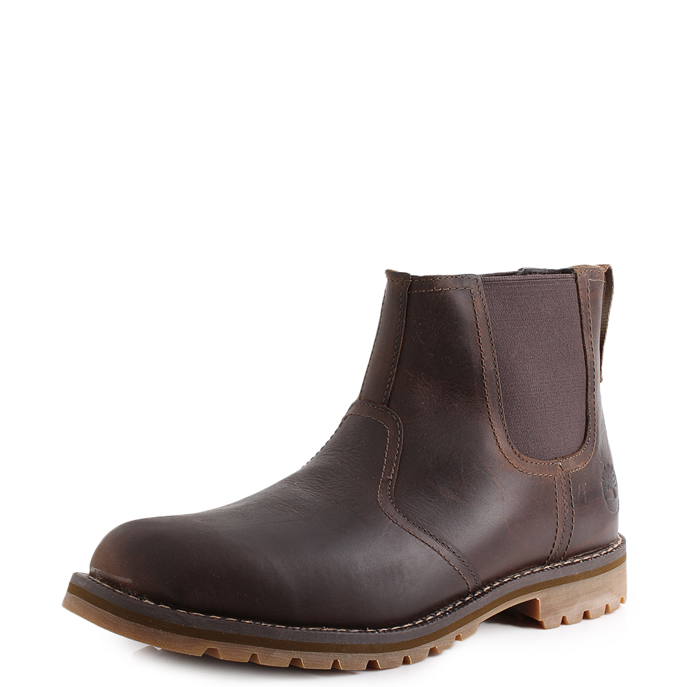 Mens Timberland Larchmont Chelsea Gaucho Brown Leather
