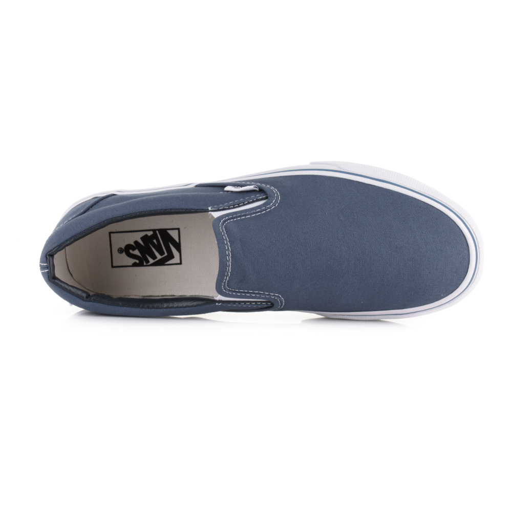 b6c136f4b7 Mens Vans Classic Slip On Navy Plimsolls Classic 90 s Skate Shoes UK Size