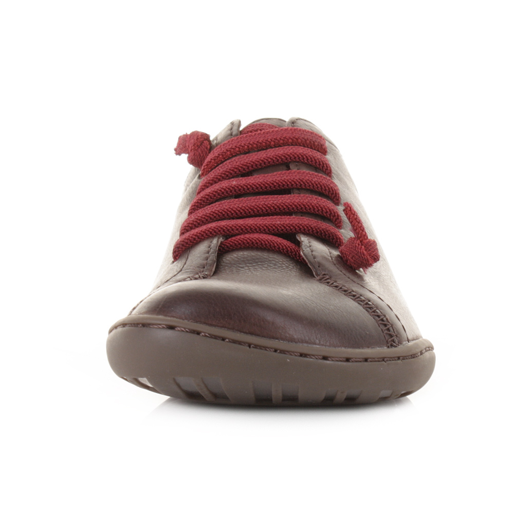0c226ece9fab81 Womens Camper Peu Patty Kenia Brown Lace Up Flat Leather Casual Shoes Size