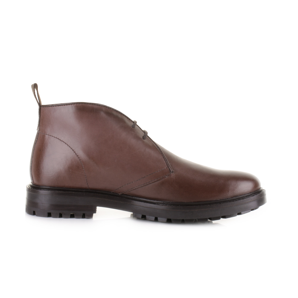 Mens Base London Stephenson Waxy Brown Leather Chukka Ankle Boots Size