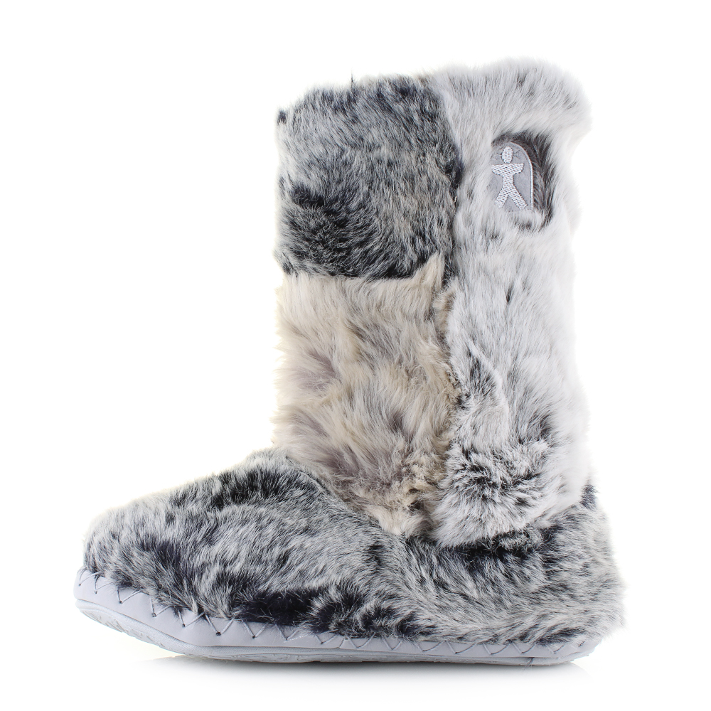 Bedroom Athletics Florence Luxury Faux Fur Slipper Boots