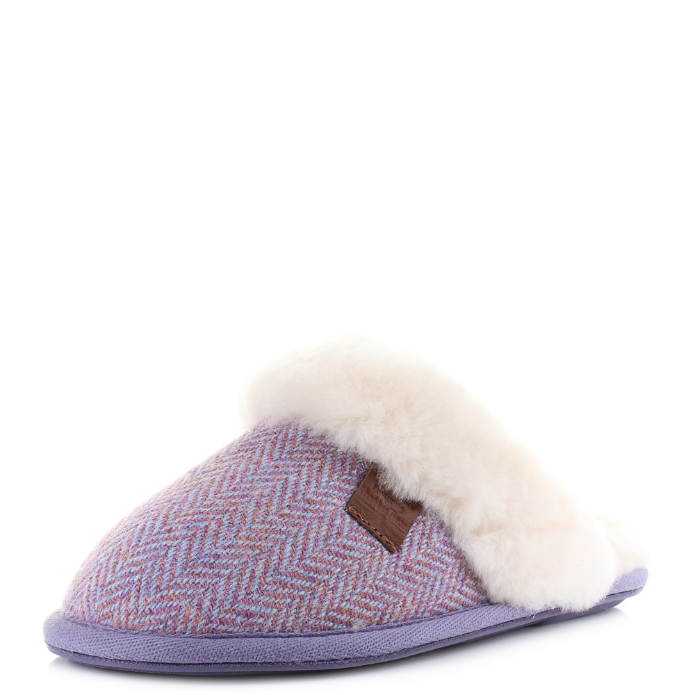 bedroom slippers womens womens bedroom athletics kate pink harris tweed sheepskin 10670