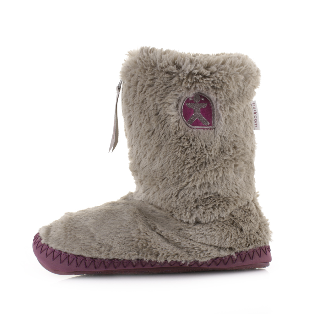 Womens Bedroom Athletics Monroe Moonrock Plum Faux Fur