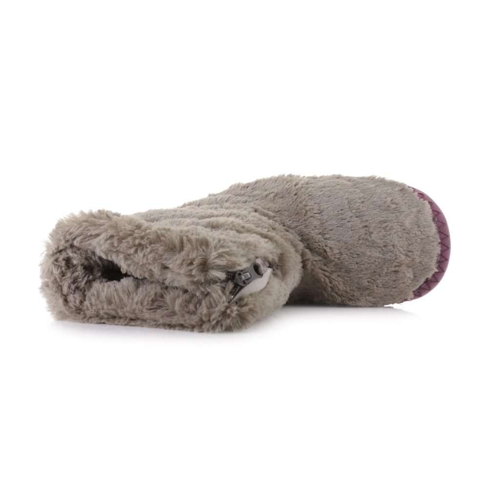 womens bedroom athletics monroe moonrock plum faux fur slipper boots size ebay. Black Bedroom Furniture Sets. Home Design Ideas