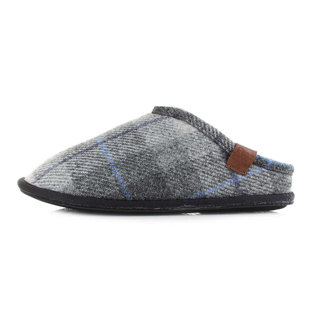 mens bedroom slippers mens bedroom athletic william grey charcoal check harris 12382