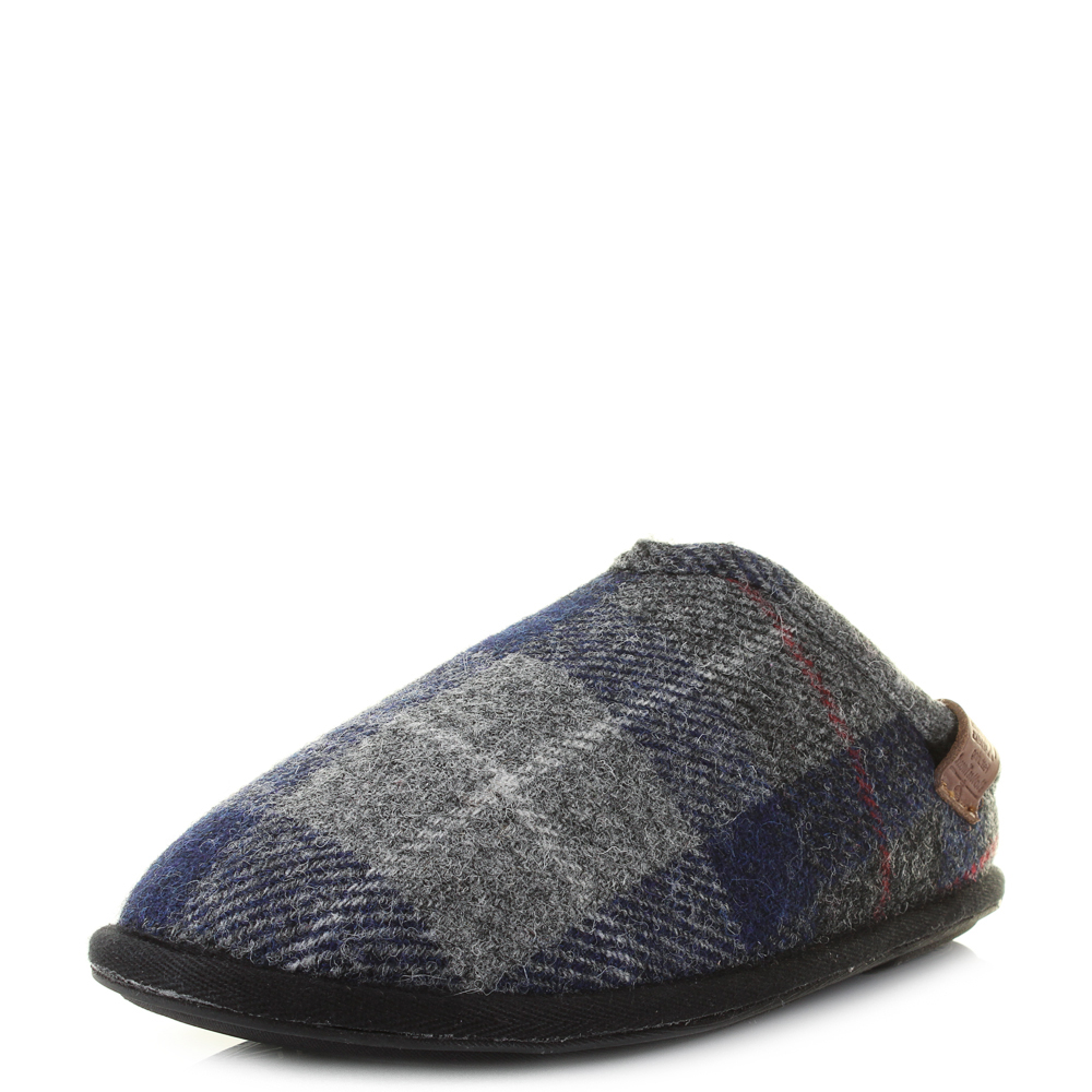 mens bedroom slippers mens bedroom athletics harris tweed william navy black 12382