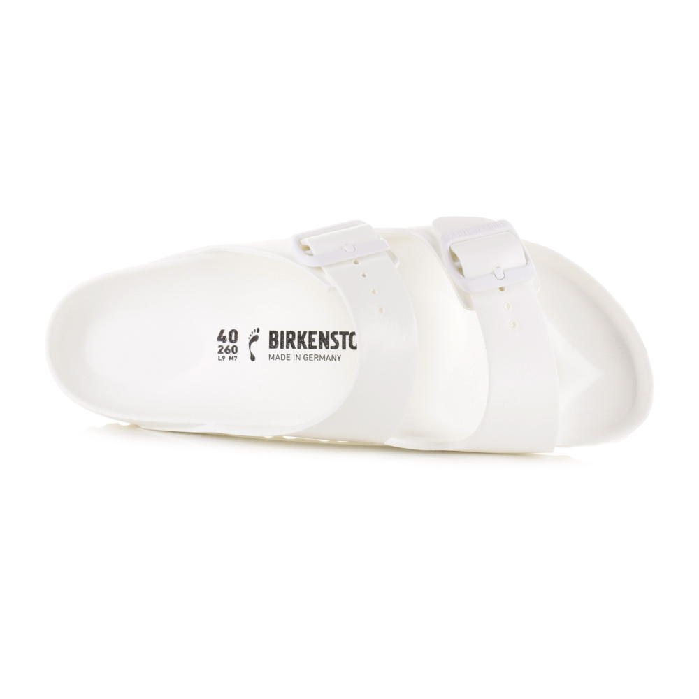 7a27f9a83835 Womens Birkenstock Arizona EVA White Narrow Fit Sandals Shu Size