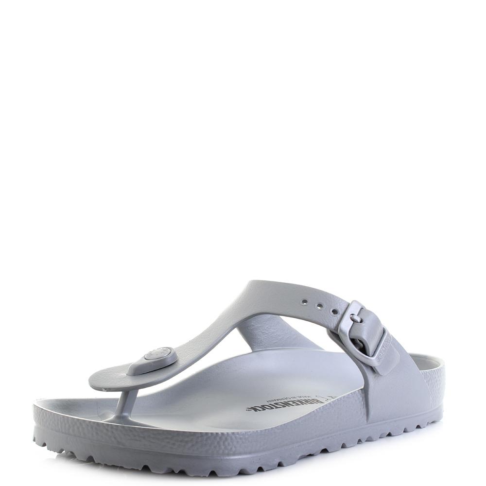 Womens Birkenstock Gizeh EVA Silver Regular Fit Toe Post Sandals Sz Size