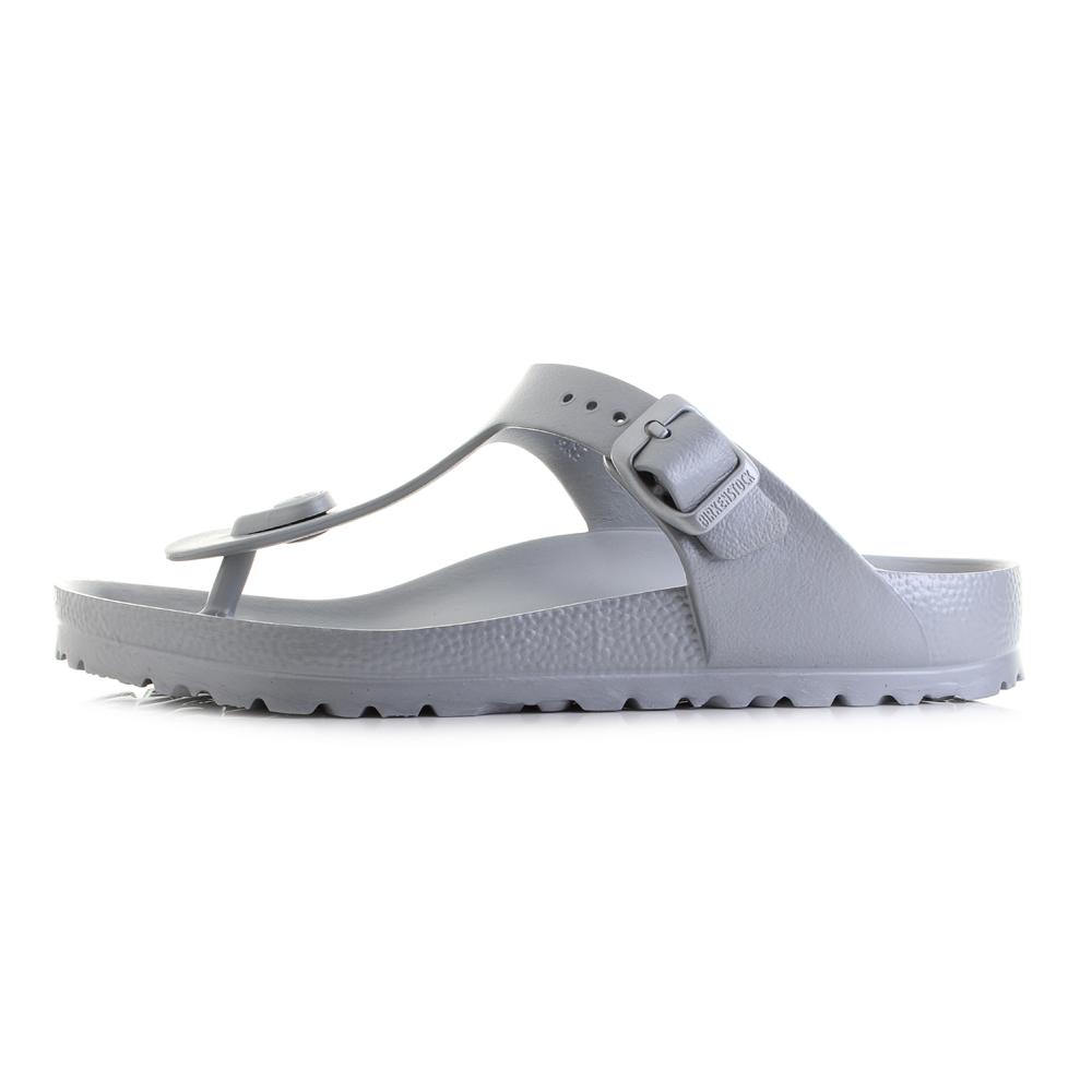 64a5f02b267a Womens Birkenstock Gizeh EVA Silver Regular Fit Toe Post Sandals Shu ...
