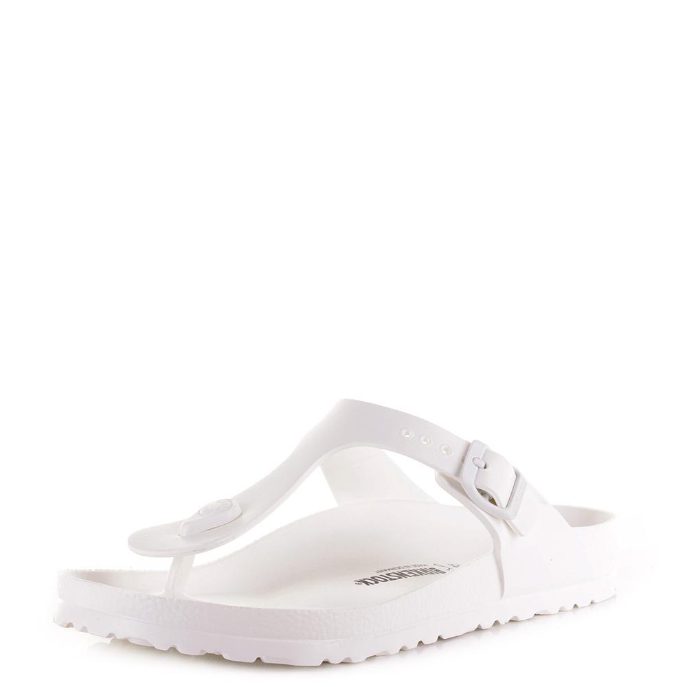 abc57b35cd6a Womens Birkenstock Gizeh EVA White Regular Fit Toe Post Sandals Size ...