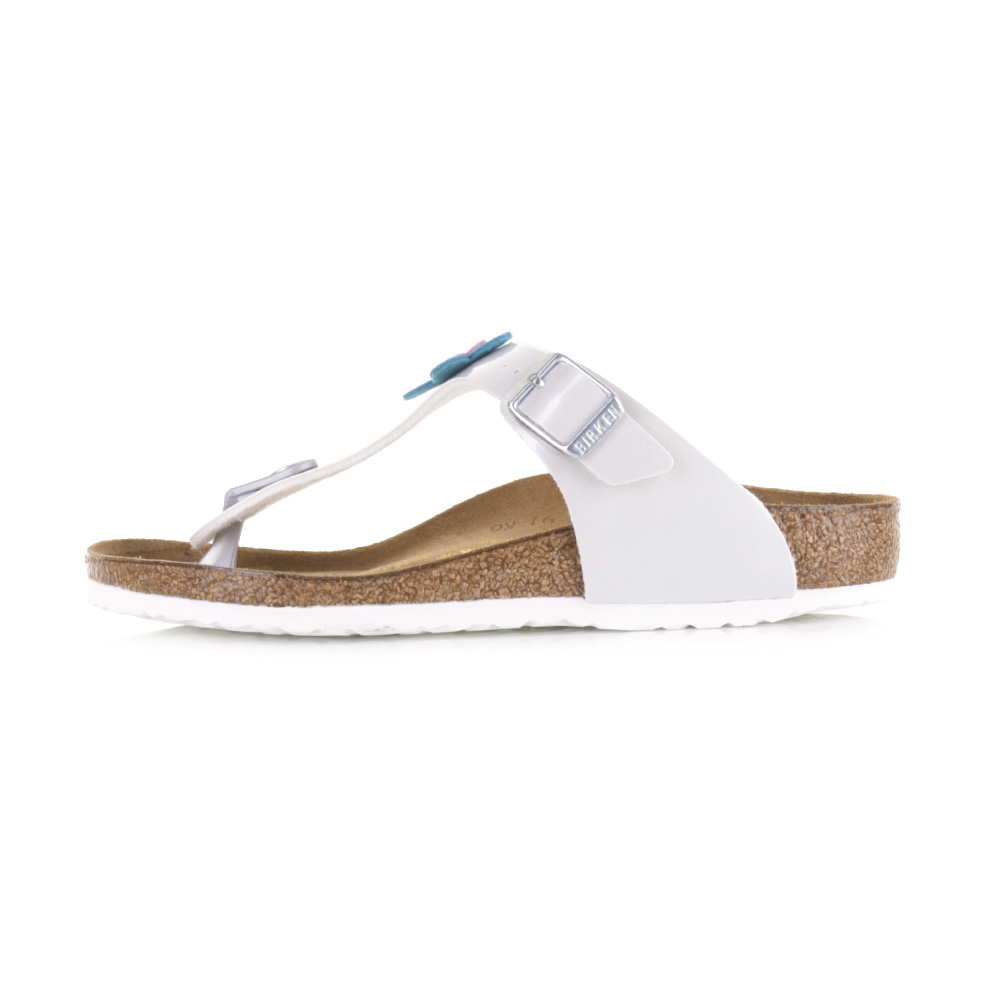 14ab69131fc8 Kids Girls Birkenstock Gizeh Pearly White Narrow Fit Sandals Shu ...