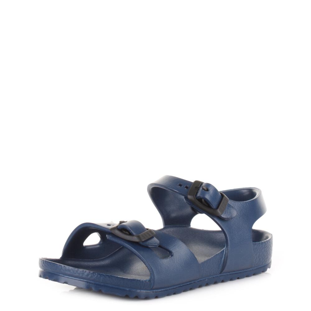 a1d637df8df Boys Kids Birkenstock Rio EVA Navy Narrow Fit Sandals Shu Size