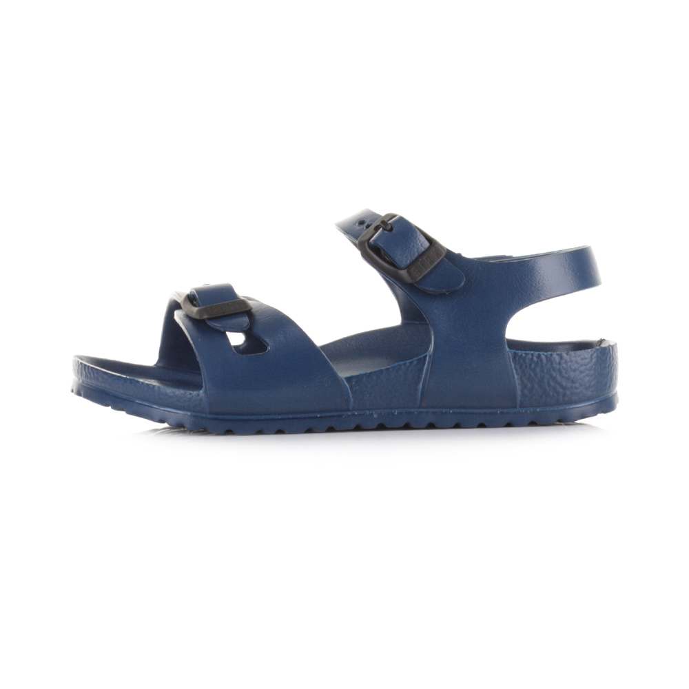4becf15616f4 Boys Kids Birkenstock Rio EVA Navy Narrow Fit Sandals Shu Size