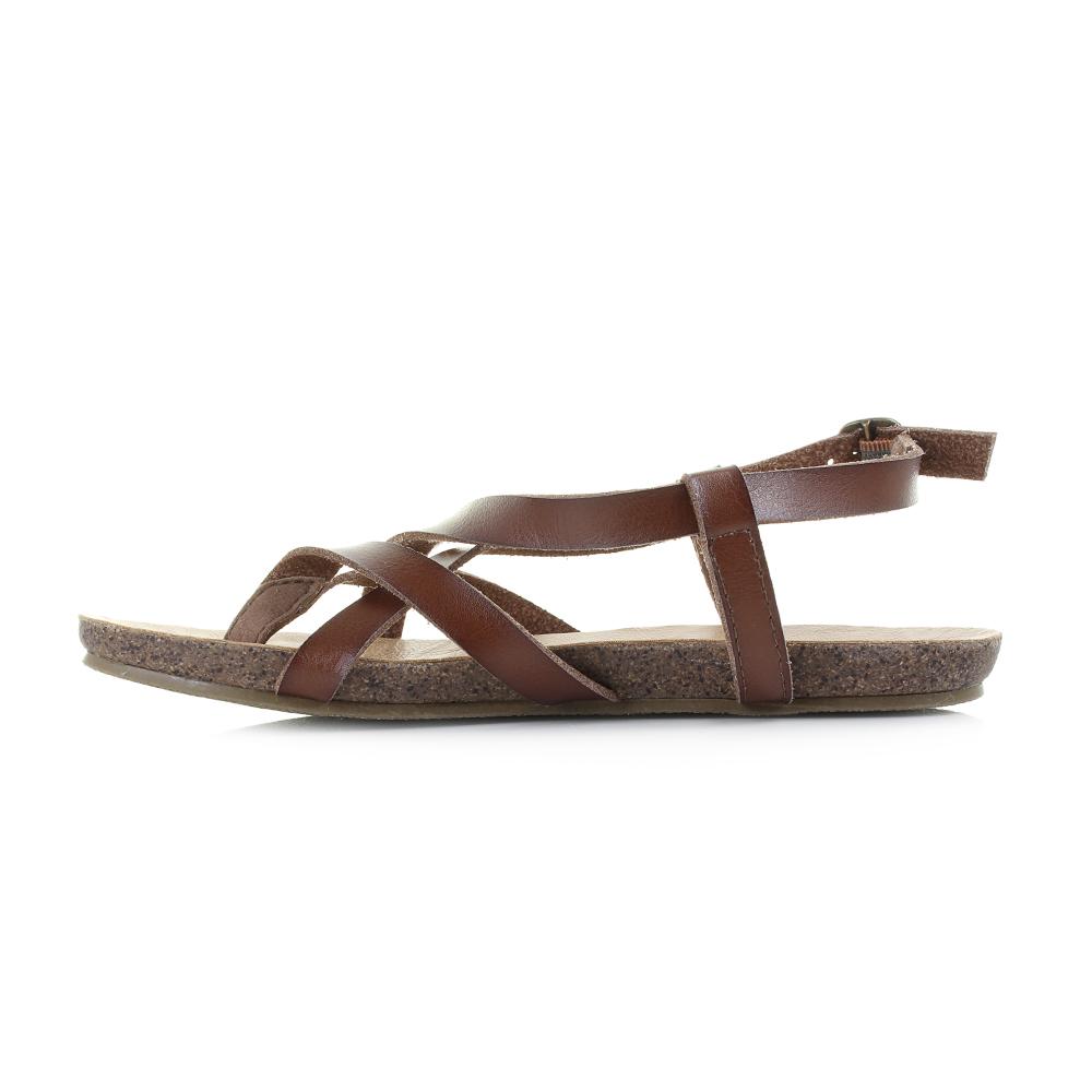 e50701c39 Womens Blowfish Granola Whiskey Dyecut Gladiator Flat Sandals Size ...