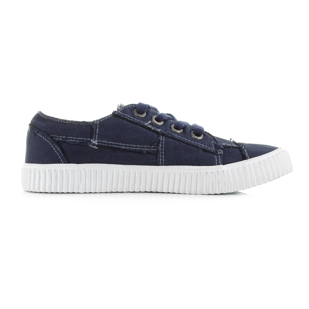 74b68ed835bc Womens Blowfish Cablee Navy Casual Plimsolls Trainers Shu Size