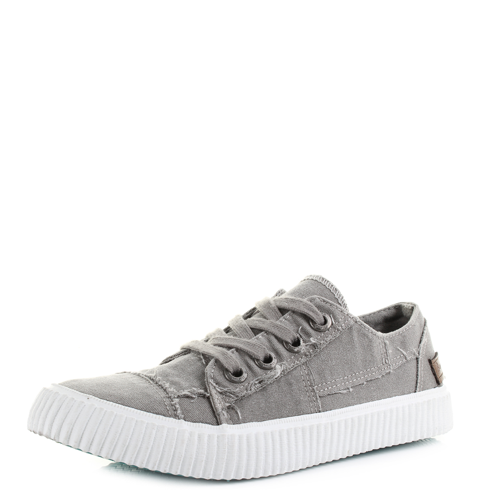 Womens Blowfish Cablee Steel Grey Casual Pimsolls Trainers UK Size