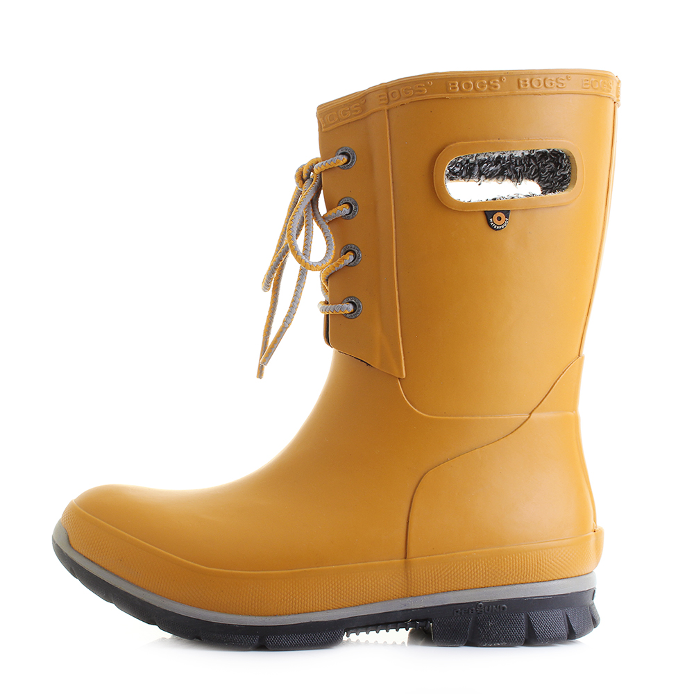 Boots Amanda Womens Mustard Plush Calf Wellington Mid Bogs Wellies PXiTZOku