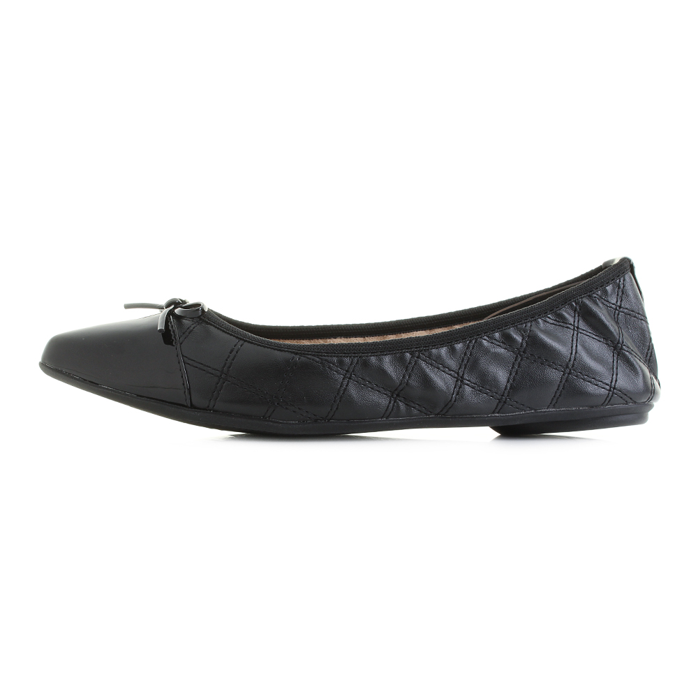 Your Purse Black Silver Womens Erfly Twist Holly Quilted Fold Up Ballerina Flat